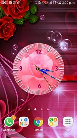 Rose Clock Android Wallpaper Image 3