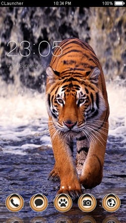 Tiger CLauncher Android Theme Image 1