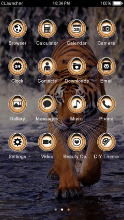 Tiger CLauncher Android Theme Image 2