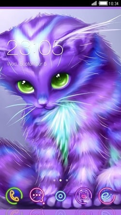 Kitty CLauncher Android Theme Image 1