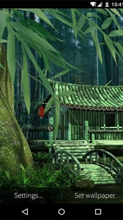 Bamboo House 3D Android Wallpaper Image 1