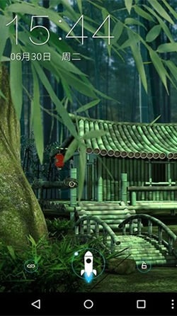 Bamboo House 3D Android Wallpaper Image 2