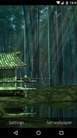 Bamboo House 3D Android Wallpaper Image 3