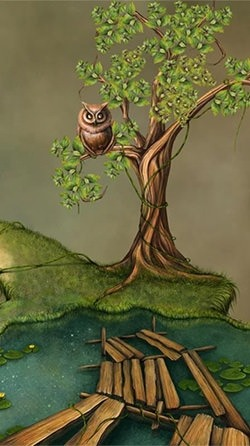 Fantasy Swamp Android Wallpaper Image 1