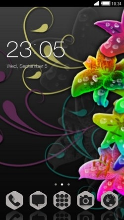 Colorful Flowers CLauncher Android Theme Image 1