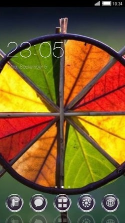 Colorful Leaves CLauncher Android Theme Image 1