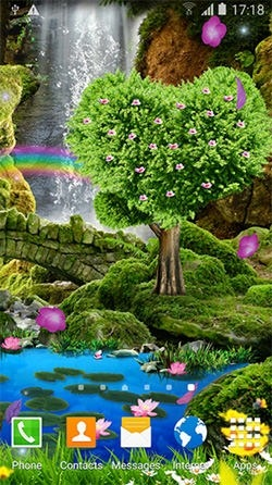 Romantic Waterfall 3D Android Wallpaper Image 2