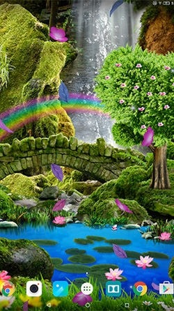 Romantic Waterfall 3D Android Wallpaper Image 3