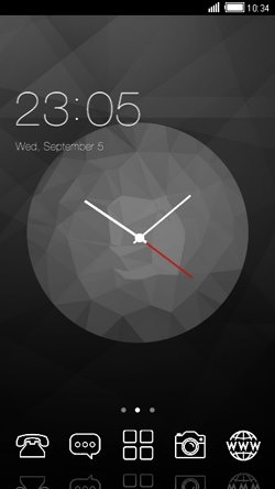 wall clock mobile themes download