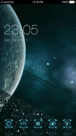 Blue Planet CLauncher Android Theme Image 1