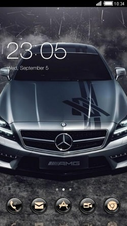 Mercedes CLauncher Android Theme Image 1