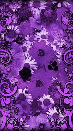 Purple Flowers Android Wallpaper Image 2