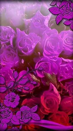 Purple Flowers Android Wallpaper Image 3