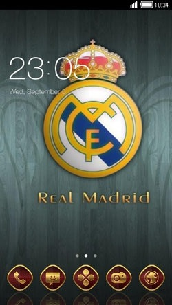 Real Madrid CLauncher Android Theme Image 1