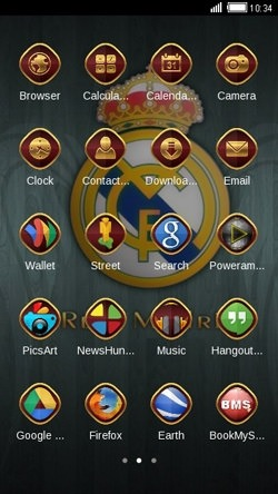 Real Madrid CLauncher Android Theme Image 2