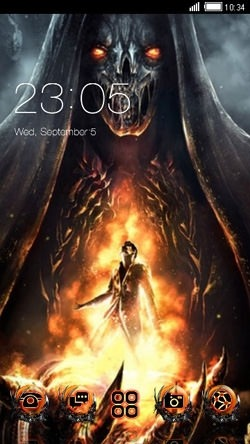 Hell CLauncher Android Theme Image 1