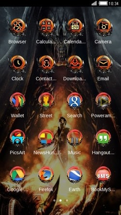 Hell CLauncher Android Theme Image 2