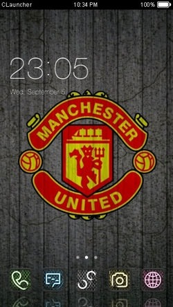 Manchester United CLauncher Android Theme Image 1