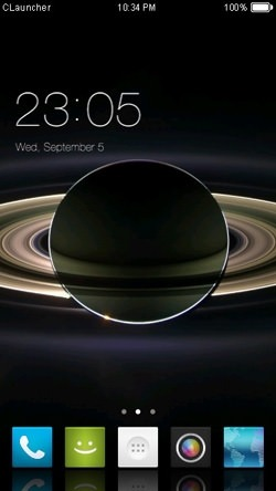 Dark Space CLauncher Android Theme Image 1