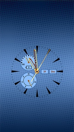 Clock: Real Time Android Wallpaper Image 1