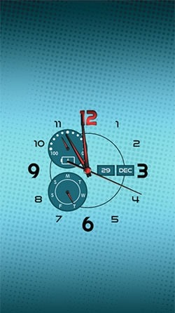 Clock: Real Time Android Wallpaper Image 2