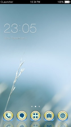 Cold CLauncher Android Theme Image 1