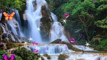 Waterfall 3D Android Wallpaper Image 1
