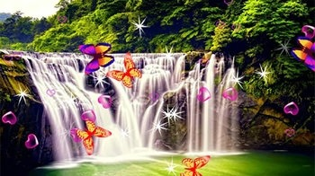 Waterfall 3D Android Wallpaper Image 2
