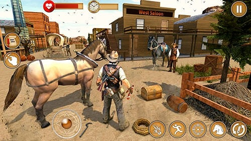Western Cowboy Gun Shooting Fighter Open World Android Game Image 4