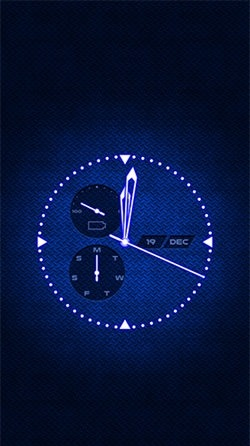 Analog Clock Android Wallpaper Image 1