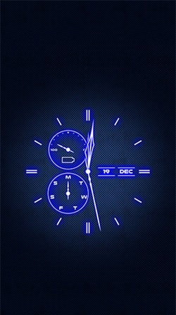 Analog Clock Android Wallpaper Image 2