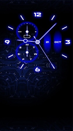 Analog Clock Android Wallpaper Image 3