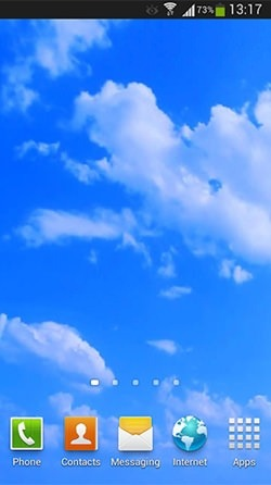 Blue Sky Android Wallpaper Image 1