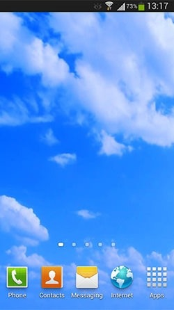 Blue Sky Android Wallpaper Image 2