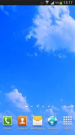 Blue Sky Android Wallpaper Image 3