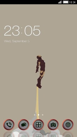 Iron Man CLauncher Android Theme Image 1
