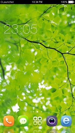Green Leaves CLauncher Android Theme Image 1