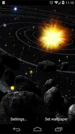 Asteroid Belt Android Wallpaper Image 3
