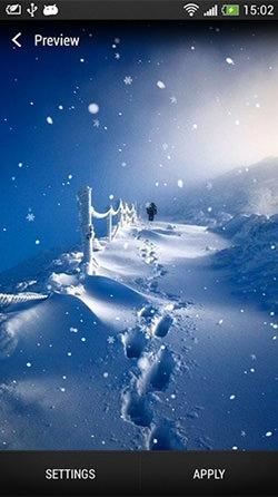 Snowfall Android Wallpaper Image 3