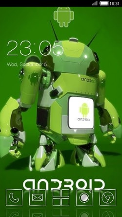Android Robot CLauncher Android Theme Image 1