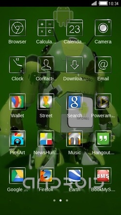 Android Robot CLauncher Android Theme Image 2
