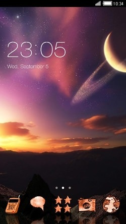 Sunset CLauncher Android Theme Image 1