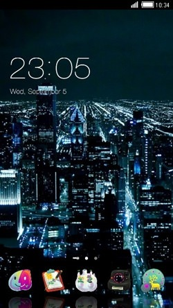 City Nights CLauncher Android Theme Image 1