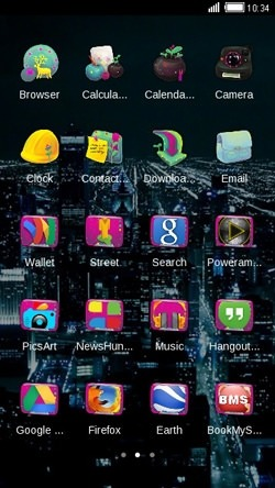 City Nights CLauncher Android Theme Image 2