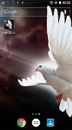 Dove 3D Android Wallpaper Image 2