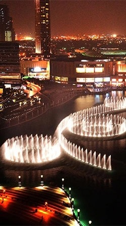 Dubai Fountain Android Wallpaper Image 1