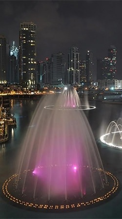 Dubai Fountain Android Wallpaper Image 2
