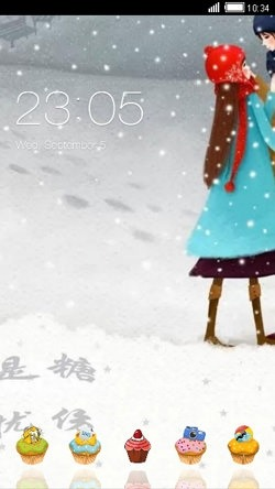 Snow CLauncher Android Theme Image 1