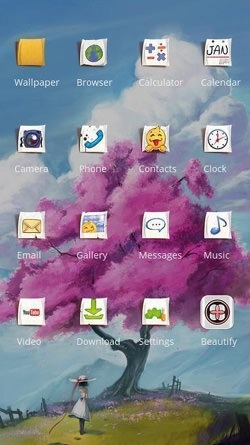 Tree CLauncher Android Theme Image 2