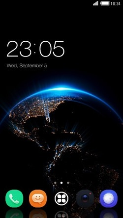 Space CLauncher Android Theme Image 1